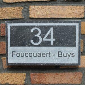 Belgisch hardsteen naamborden